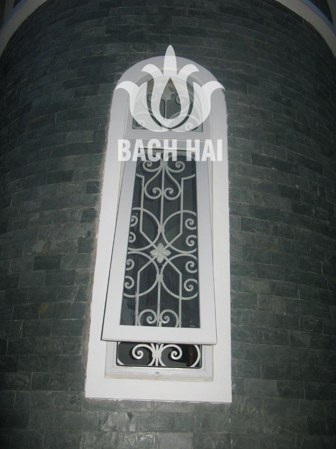 khung cửa sổ sắt mỹ thuật bh-10142