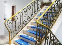 cầu thang sắt rèn hoa văn sang trọng