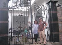 cổng sắt rèn nhà phố bh-10164