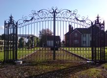 cổng sắt mỹ thuật biệt thự ws-10414