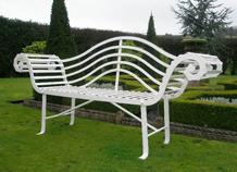 ghế sắt mỹ thuật trang trí sân vườn ws-10102