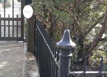 hàng rào sắt đẹp trang trí sân vườn bạch hải
