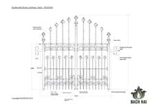 knebworth house archway gates - ws10356